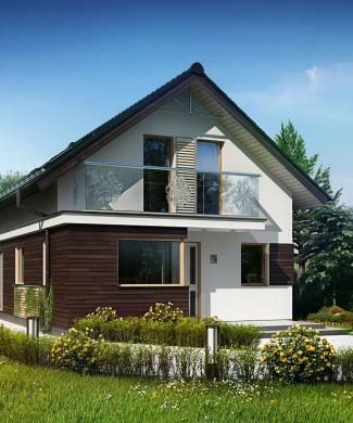 Проект частного дома для узкого участка Z296