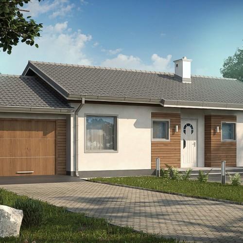 Проект дома с гаражом для дачного участка Z7 L GL