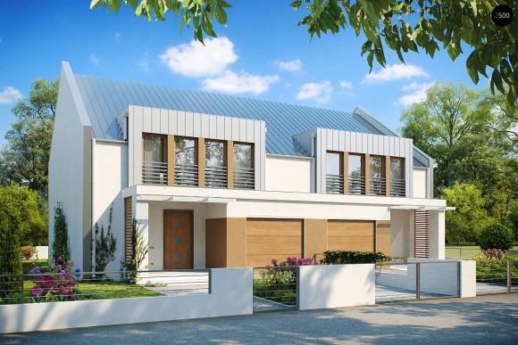 Купить готовый проект дома на две семьи Zb5