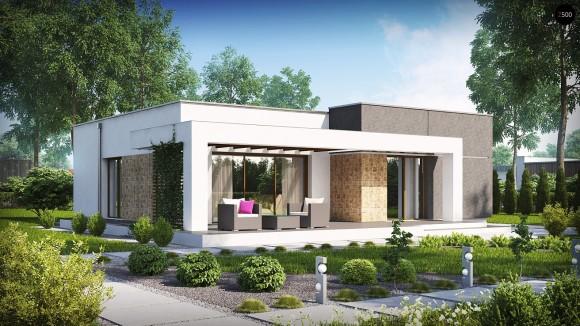 Проект современного компактного одноэтажного дома Беларусь