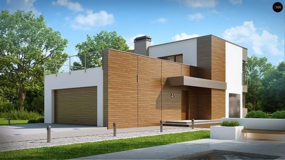 Проект современного загородного двухэтажного дома в Минске