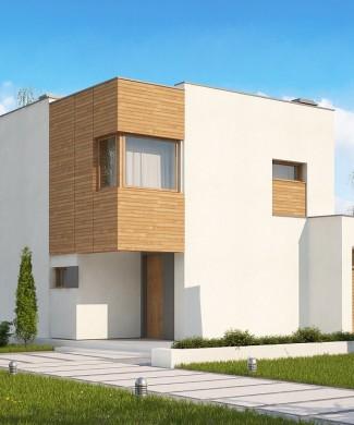 Проект современного двухэтажного дома с гаражом Zx51 GP