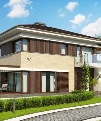 Проект двухэтажного дома Zx63 B в Беларуси