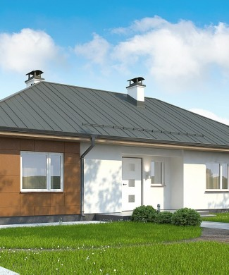 Типовой проект одноэтажного коттеджа Беларусь