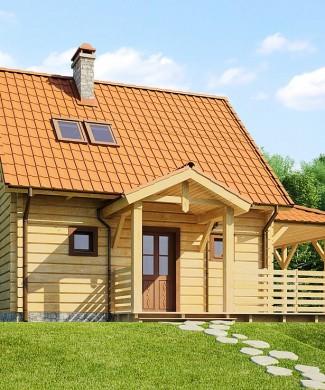 Проект небольшого деревянного дома Z57