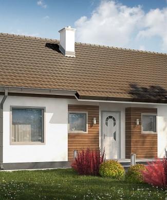 Готовый проект одноэтажного частного дома Z7 35