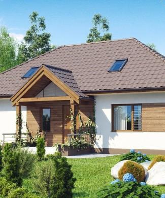 проект одноэтажного дома из газосиликатных блоков Z106