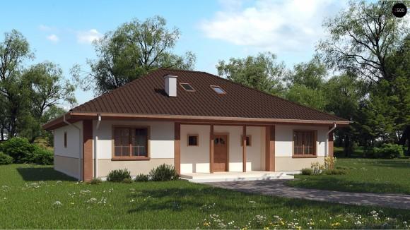 проект одноэтажного дома с мансардой из газосиликатных блоков