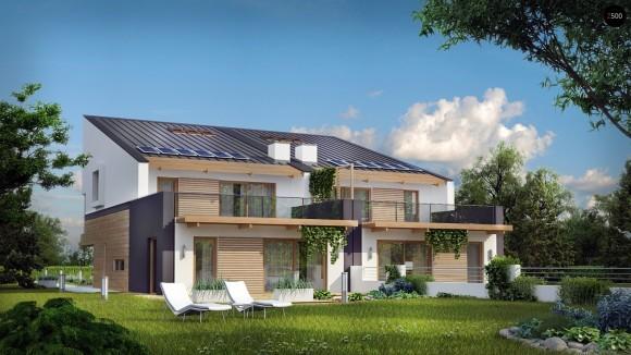 Проект дома на две семьи в Минске Z500