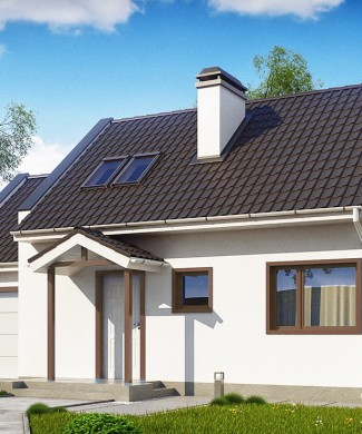 Проект небольшого дома с гаражом Беларусь