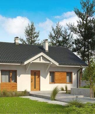 Проект маленького одноэтажного домика