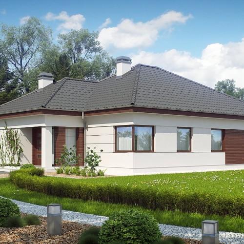 Готовый проект одноэтажного дома из пенобетона