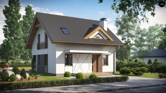 Проект небольшого дома с тремя спальнями и большой гостиной Минск