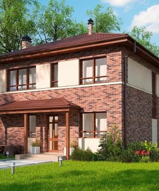 Проект двухэтажного дома без гаража в Минске