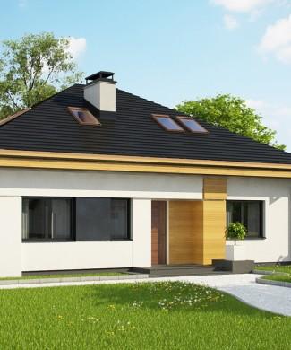 Проект одноэтажного дома с мансардой Z273 Ph+st