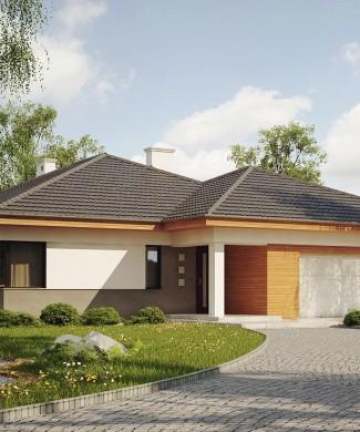 Проект одноэтажного дома с гаражом на две машины в Минске Z281