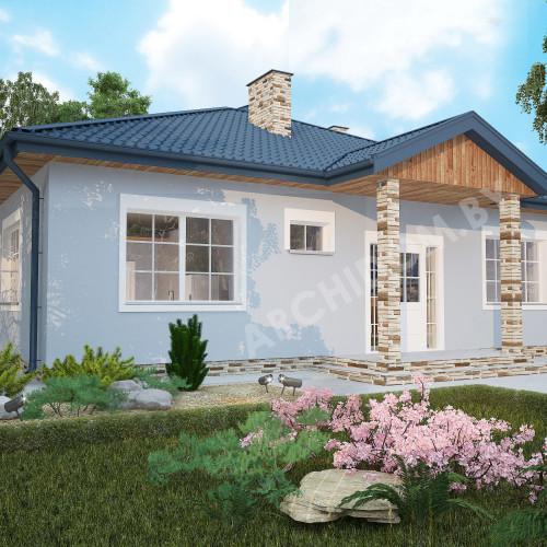 Купить архитектурный проект одноэтажного дома в Минске N3