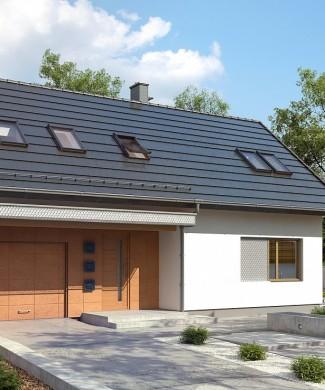 Проект дома 154,5 м² с 4 спальнями и гаражом