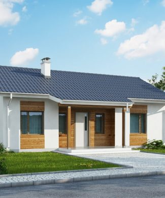 Проект одноэтажного дома 100 м2 с гаражом