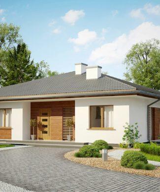 Проект одноэтажного дома с террасой в Минске Z321