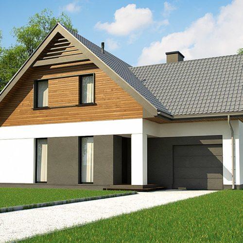 Проект дома с мансардным этажом Z365 в Беларуси