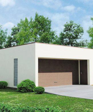 Проект гаража в современном стиле Zg16