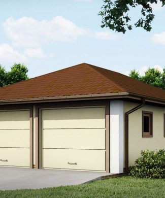 Проект гаража на 2 автомобиля Zg19