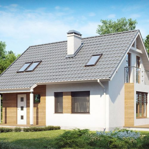 Проект дома с мансардой Z101 в Минске