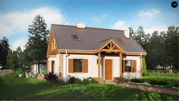 Проект небольшого дома с мансардным этажом в Минске
