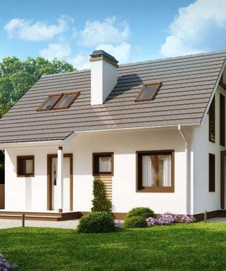 Проект небольшого каркасного дома в Минске Z212 dk