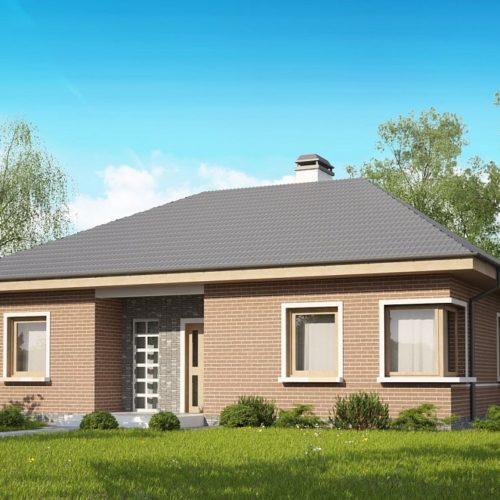 Проект маленького одноэтажного дома в Минске Z24 K