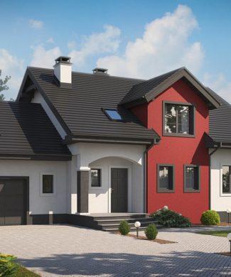 Проект дома с мансардой и гаражом в Минске Z28 GL