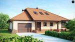 Проект одноэтажного дома с гаражом и террасой на заднем дворе в Минске