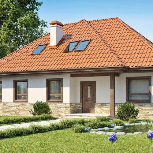 Проект дома 230 м2 с четырехскатной крышей