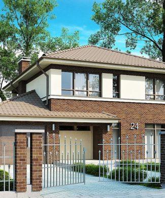 Проект двухэтажного каркасного дома от 150 до 200 м