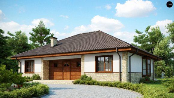 Проект одноэтажного каркасного дома Z10