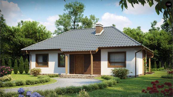 Каркасный одноэтажный дом в Минске