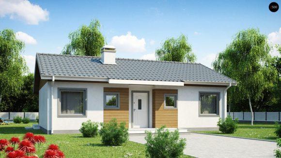 Проект каркасного дома с двухскатной крышей Z7 DK