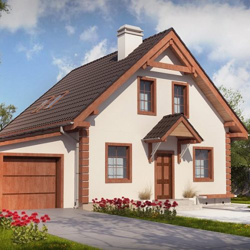 Фото проекта дома Z1 GL вид с улицы