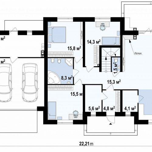 План первого этажа проекта Z10 GL2 STU bk