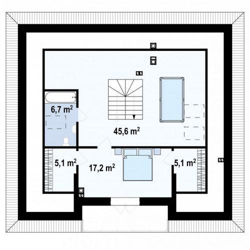 План второго этажа проекта Z10 stu bk minus