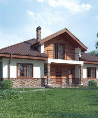 Фото проекта дома Z10 stu bk minus вид с улицы