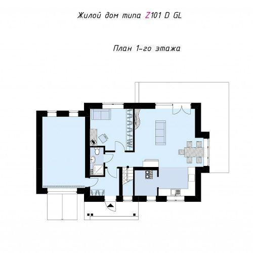 План первого этажа проекта Z101 D GL
