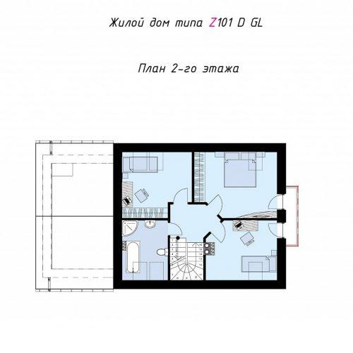 План второго этажа проекта Z101 D GL