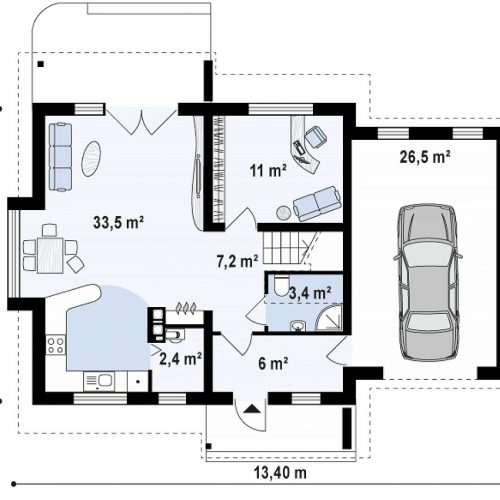 План первого этажа проекта Z102 GP
