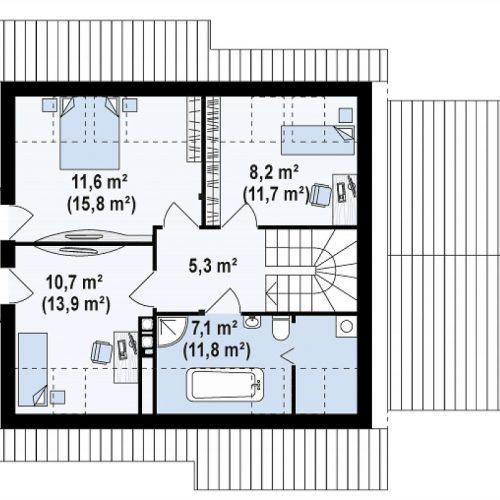 План второго этажа проекта Z102 GP
