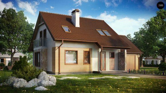 Фото проекта дома Z102 GP вид с улицы
