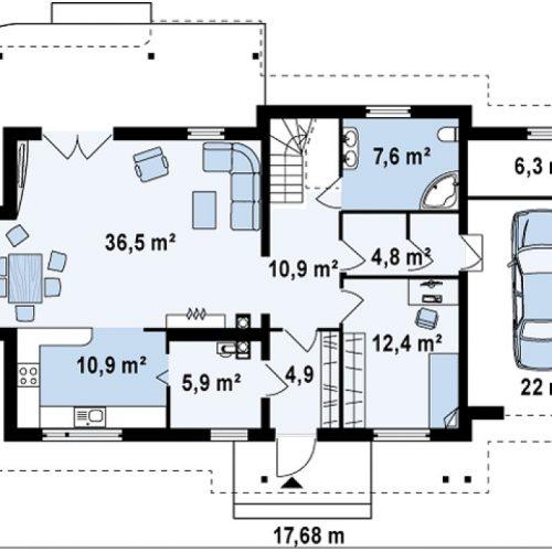 План первого этажа проекта Z103