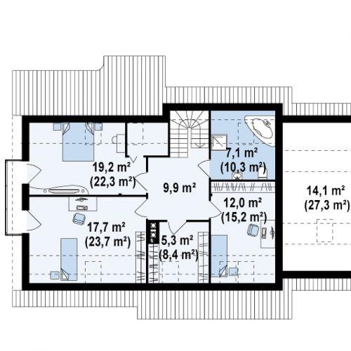 План второго этажа проекта Z103