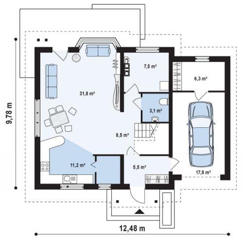План первого этажа проекта Z107